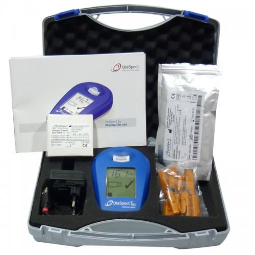 Pack Maletín DiaSpect y 100 Lancetas de Seguridad Unistik 21G